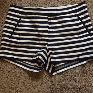 J. Crew navy & white striped shorts